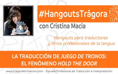 """La traducción de Juego de Tronos: el fenómeno """"hold the door"""""""